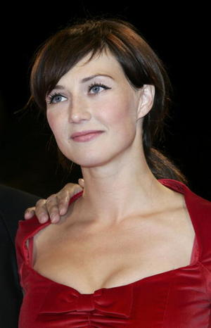 """""""Black Book"""" star Carice Van Houten at the premiere during the 63rd Venice Film Festival in Italy."""