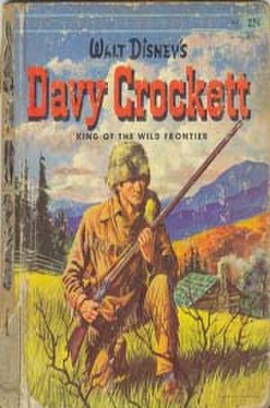 """Poster art for """"Davy Crockett, King of the Wild Frontier."""""""