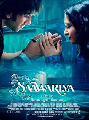"Poster art for ""Saawariya."""