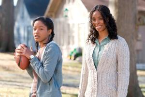 "Keke Palmer and Tasha Smith in ""The Longshots."""