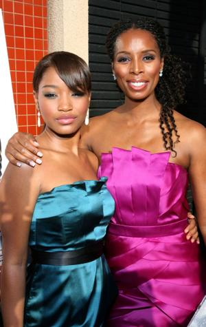"Keke Palmer and Tasha Smith at the California premiere of ""The Longshots."""