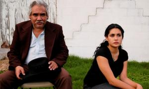"Veronica Loren as Lupe and Pedro Castaneda as Jaime Esparza in ""August Evening."""
