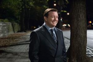 "Ricky Gervais as Bertram Pincus in ""Ghost Town."""