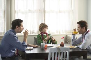 "Ben Shenkman as Sam, Noah Bernett as Scot and Tom Cavanagh as Eric in ""Breakfast With Scot."""