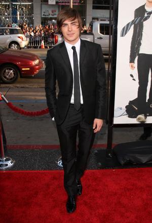 "Zac Efron at the California premiere of ""17 Again."""