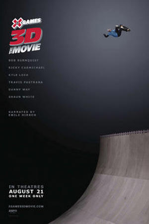 """Poster art for """"X Games 3D: The Movie."""""""
