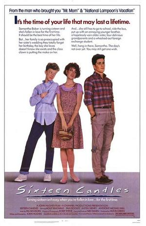 """Poster art for """"Sixteen Candles."""""""