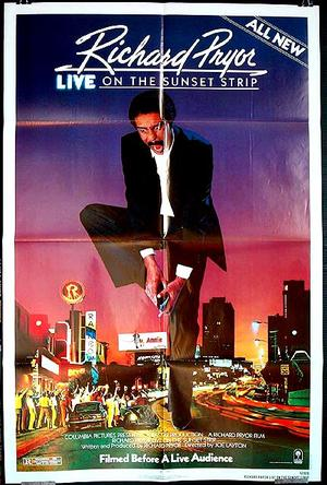 "Poster art for ""Richard Pryor Live on Sunset Strip."""