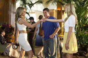 "Jennifer Aniston as Katherine, Adam Sandler as Danny and Brooklyn Decker as Palmer in ""Just Go With It."""