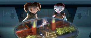 "Milo, Milo's Mom and Ki in ""Mars Needs Moms."""