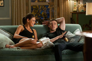 "Mila Kunis as Jaime and Justin Timberlake as Dylan in ""Friends With Benefits."""