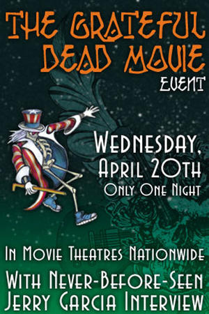 "Poster art for ""The Grateful Dead Movie Event."""