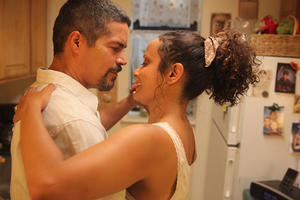 "Esai Morales as Enrique and Judy Reyes as Angela in ""Gun Hill Road."""