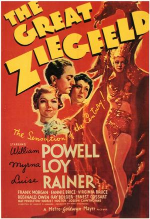 """Poster art for """"The Great Ziegfeld."""""""