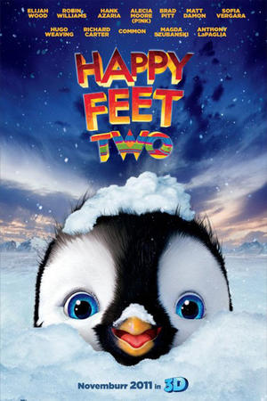 """Poster art for """"Happy Feet Two in 3D."""""""