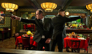 "Tommy Lee Jones and Will Smith in ""Men in Black III."""