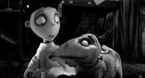 "Victor and Sparky in ""Frankenweenie."""