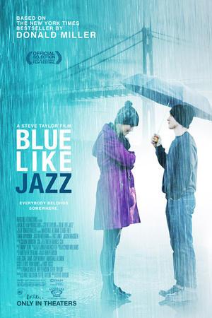 """Poster art for """"Blue Like Jazz."""""""