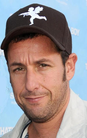 "Adam Sandler at the California premiere of ""That's My Boy."""