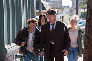 "Emile Hirsch, Gina Gershon, Juno Temple and Thomas Haden Church in ""Killer Joe."""