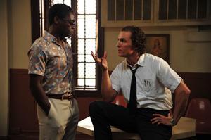 "David Oyelowo as Yardley and Matthew McConaughey as Ward Jansen in ""The Paperboy."""