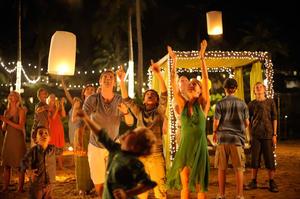 "Samuel Joslin, Tom Holland, Oaklee Pendergast, Ewan McGregor and Naomi Watts in ""The Impossible."""