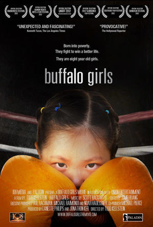 "Poster art for ""Buffalo Girls."""