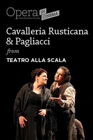 """Poster art for """"Cavalleria Rusticana & Pagliacci."""""""