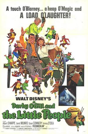 "Poster art for ""Darby O'Gill and the Little People."""