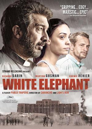 """Poster art for """"White Elephant."""""""
