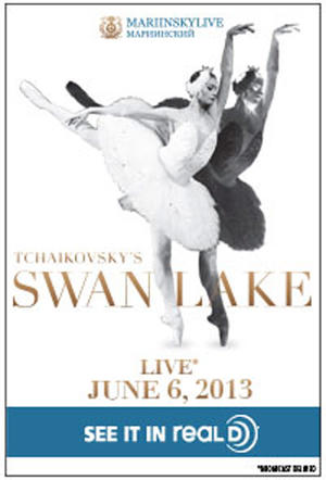 "Poster art for ""Swan Lake Mariinsky Live in 3D."""