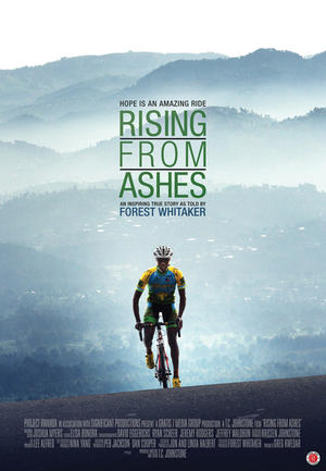 "Poster art for ""Rising From Ashes."""