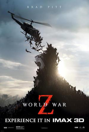 """Poster art for """"World War Z: An IMAX 3D Experience."""""""