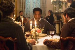 "Chiwetel Ejiofor as Solomon Northup in ""Twelve Years a Slave."""