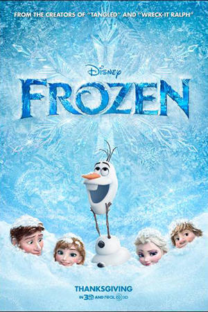 """Poster art for """"Frozen 3D."""""""