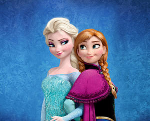 "Elsa and Anna in ""Frozen."""