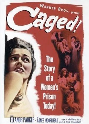 """Poster art for """"Caged."""""""