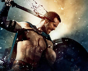 "Sullivan Stapleton as Themistokles in ""300: Rise of an Empire."""