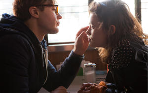 """Michael Pitt as """"Dr. Ian Grey"""" and Astrid Berges-Frisbey as """"Sofi"""" in I ORIGINS."""