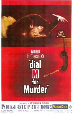 "Poster art for ""Dial M for Murder."""