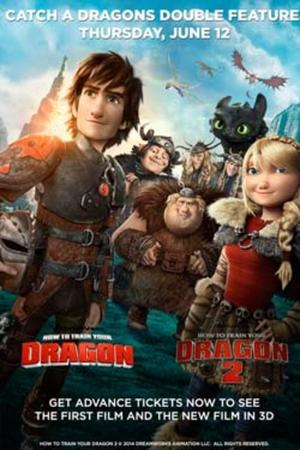 "Poster art for ""How To Train Your Dragon Double Feature."""