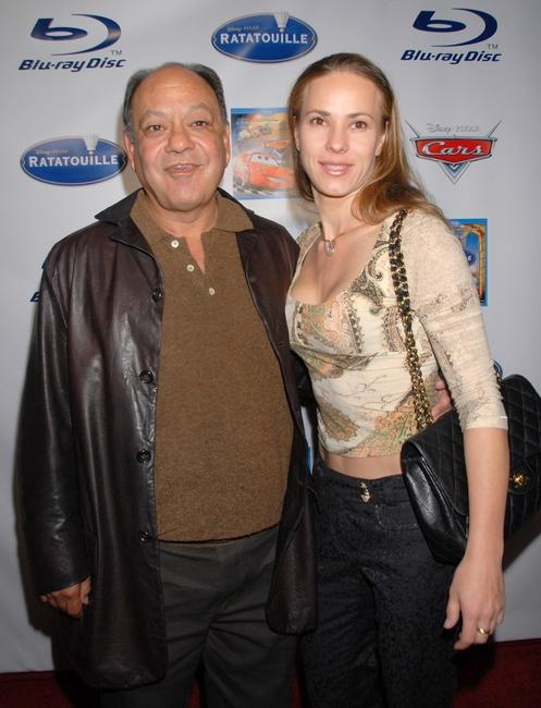 Cheech Marin and Natasha Rubin at the celebration of the release of
