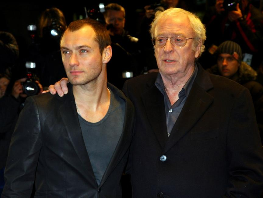 Michael Caine and Jude Law at the London Premiere of