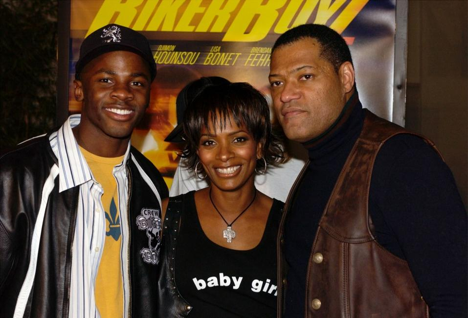 Derek Luke, Vanessa Bell Calloway and Laurence Fishburne at the premiere of
