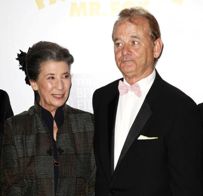 Felicity Dahl and Bill Murray at the London premiere of