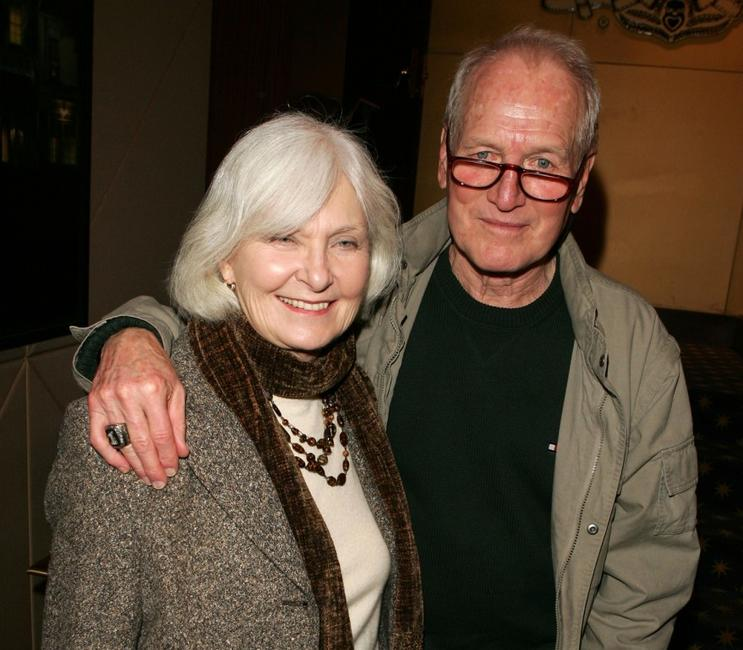 Joanne Woodward and Paul Newman at the reception during the special screening of