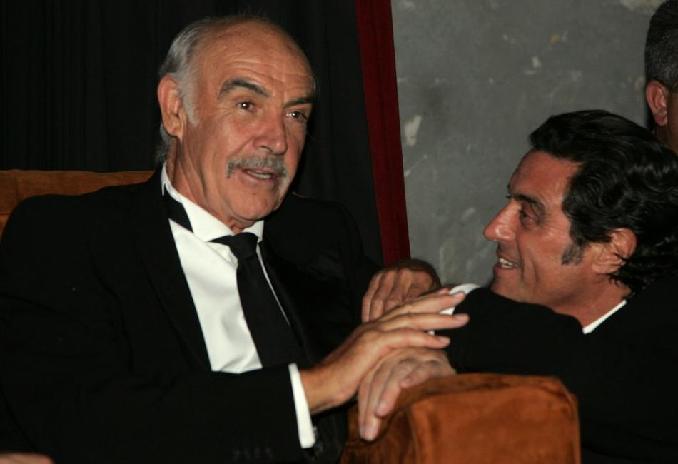 Sean Connery and Ian McShane at the after party for the 34th afi Life Achievement Award.