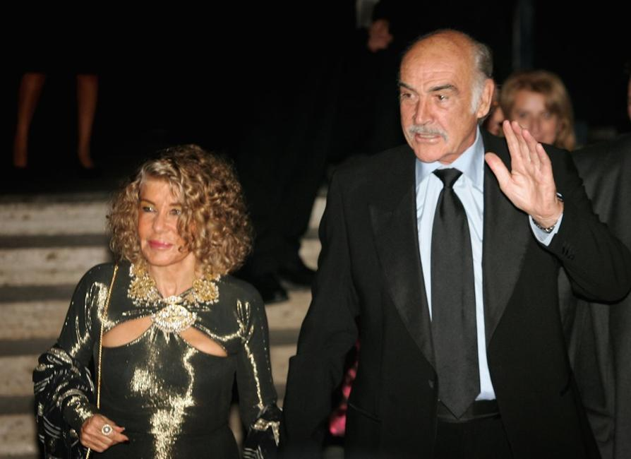 Sean Connery and his wife at the Teatro DellOpera concert on the opening night of the Rome Film festival.