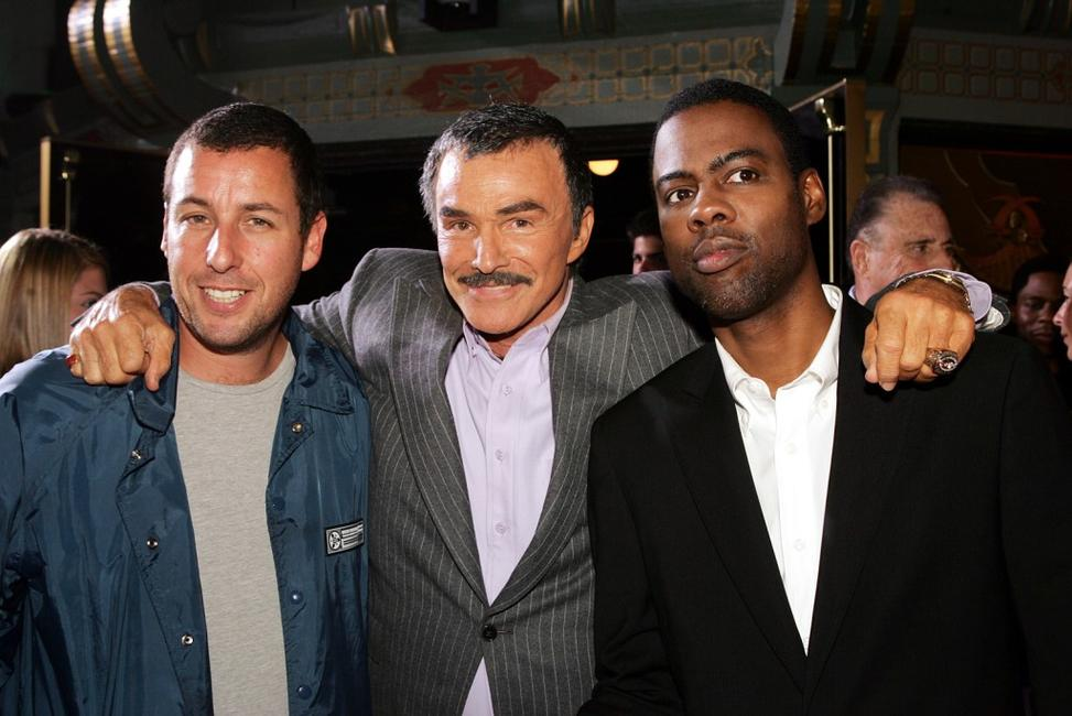 Adam Sandler, Burt Reynolds and Chris Rock at the premiere of