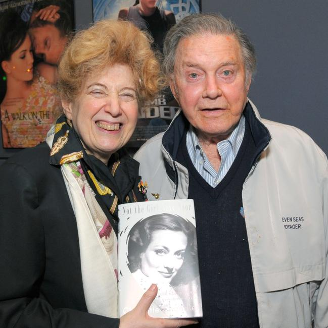 Charlotte Chandler and Cliff Robertson at the UCLA Tribute to Screen Legend Joan Crawford.